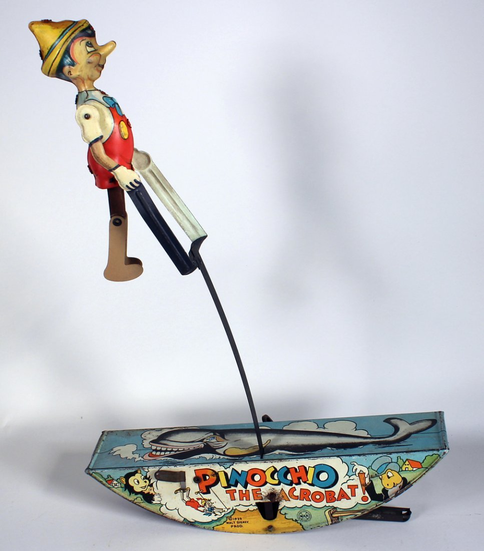 1939 Marx Pinocchio The Acrobat Wind Up