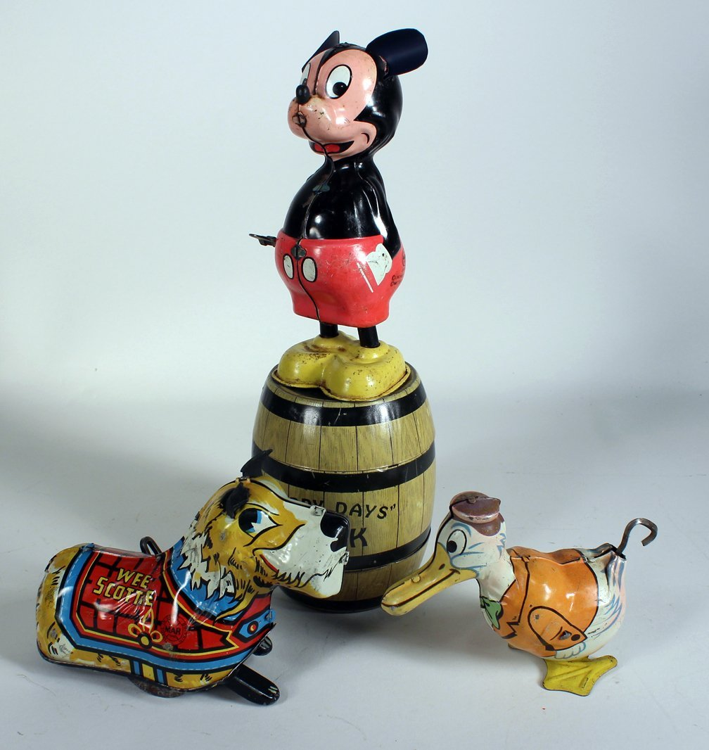Linemar Mickey Mouse, Marx & Chein Tin Toys