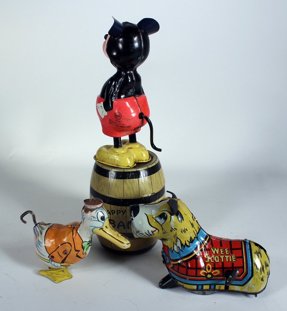 Linemar Mickey Mouse, Marx & Chein Tin Toys - 3