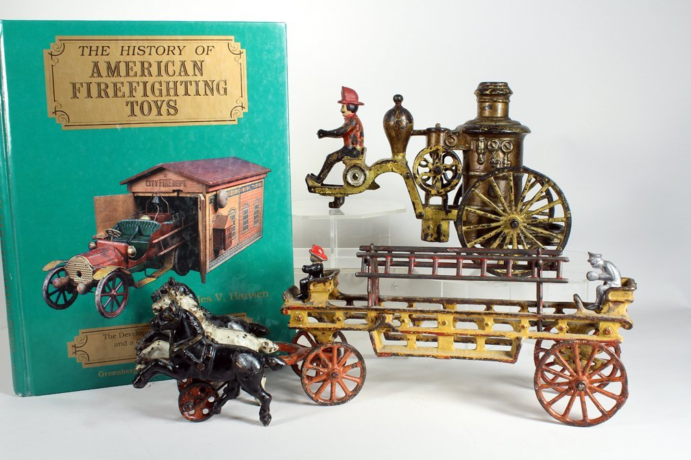 Cast Iron Fire Fighting Toys and Book