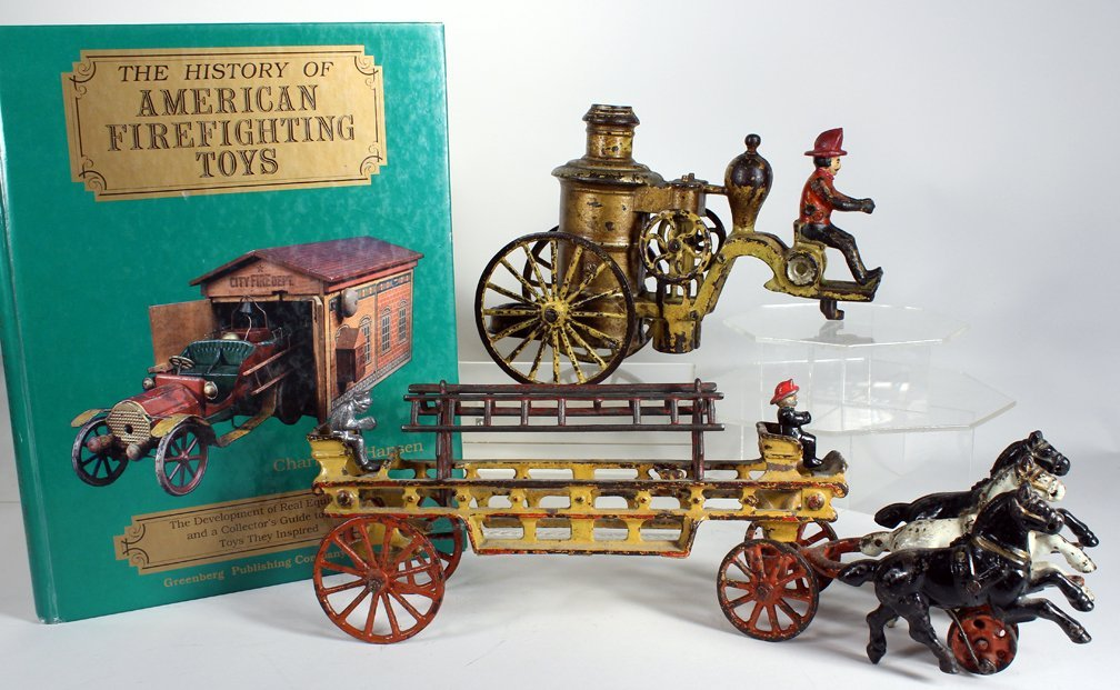 Cast Iron Fire Fighting Toys and Book - 2