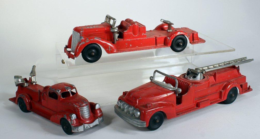 Hubley Metal Fire Engine Lot