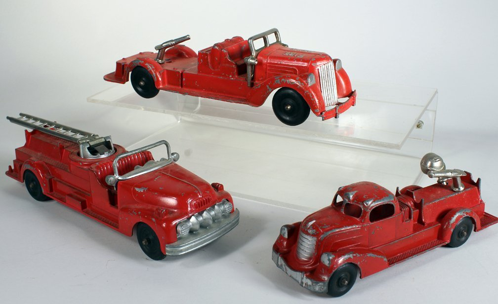 Hubley Metal Fire Engine Lot - 2