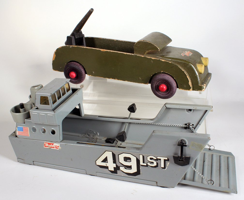 Buddy L WWII Armed Truck Navy Landing Ship