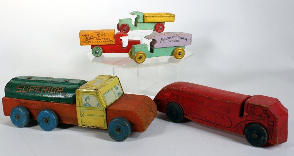 Lot of Wooden Advertising & Mack Trucks
