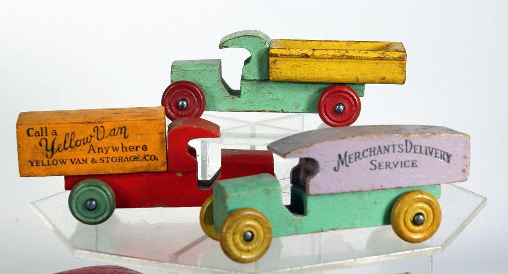 Lot of Wooden Advertising & Mack Trucks - 3