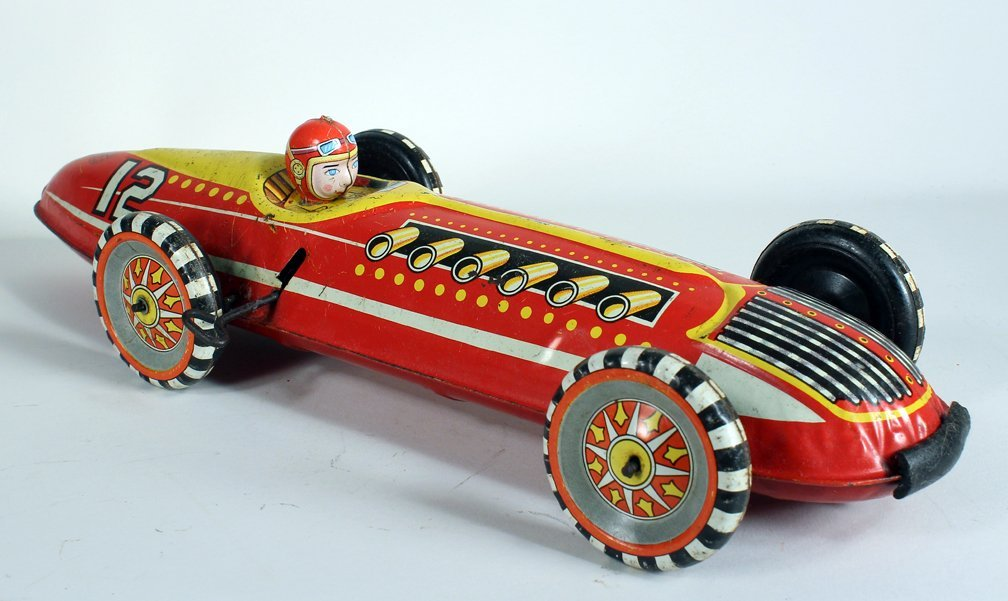 Large Louis Marx Race Car and Driver