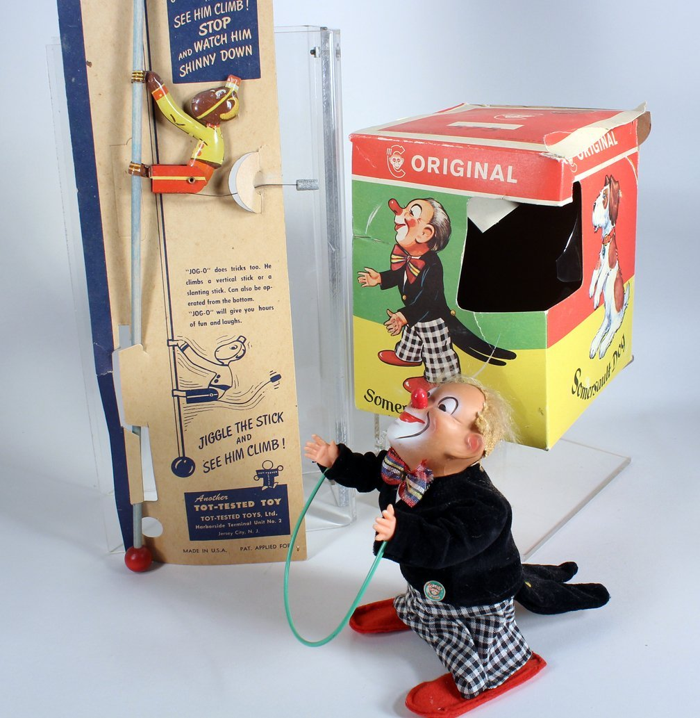 German Somersault Clown In Box and Jog O Monkey - 2
