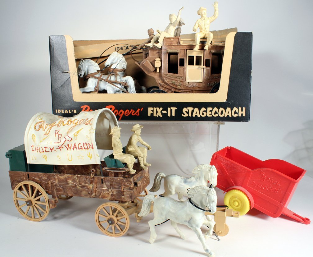 Ideal Roy Royers Fix It Stagecoach &Chuck Wagon