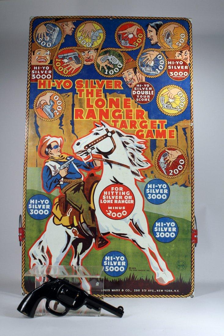 1938 Marx Lone Ranger Target Game with Gun