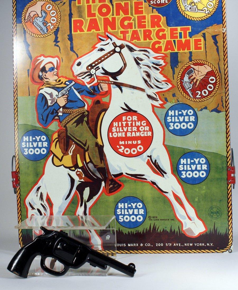 1938 Marx Lone Ranger Target Game with Gun - 2