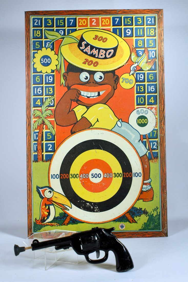 Wyandotte Black Sambo Target Game with Gun.