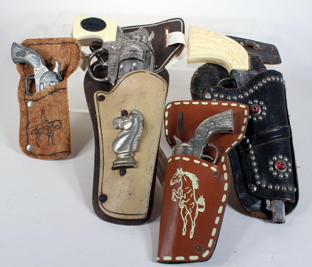 Four Holstered Cap Guns Paladin and Nichols