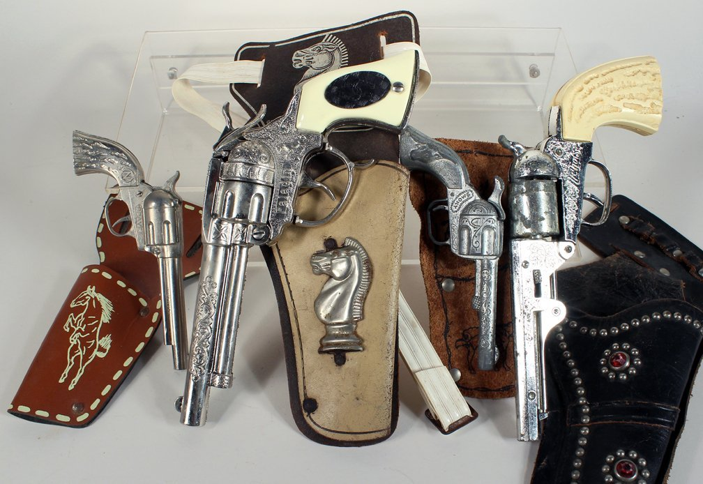 Four Holstered Cap Guns Paladin and Nichols - 2
