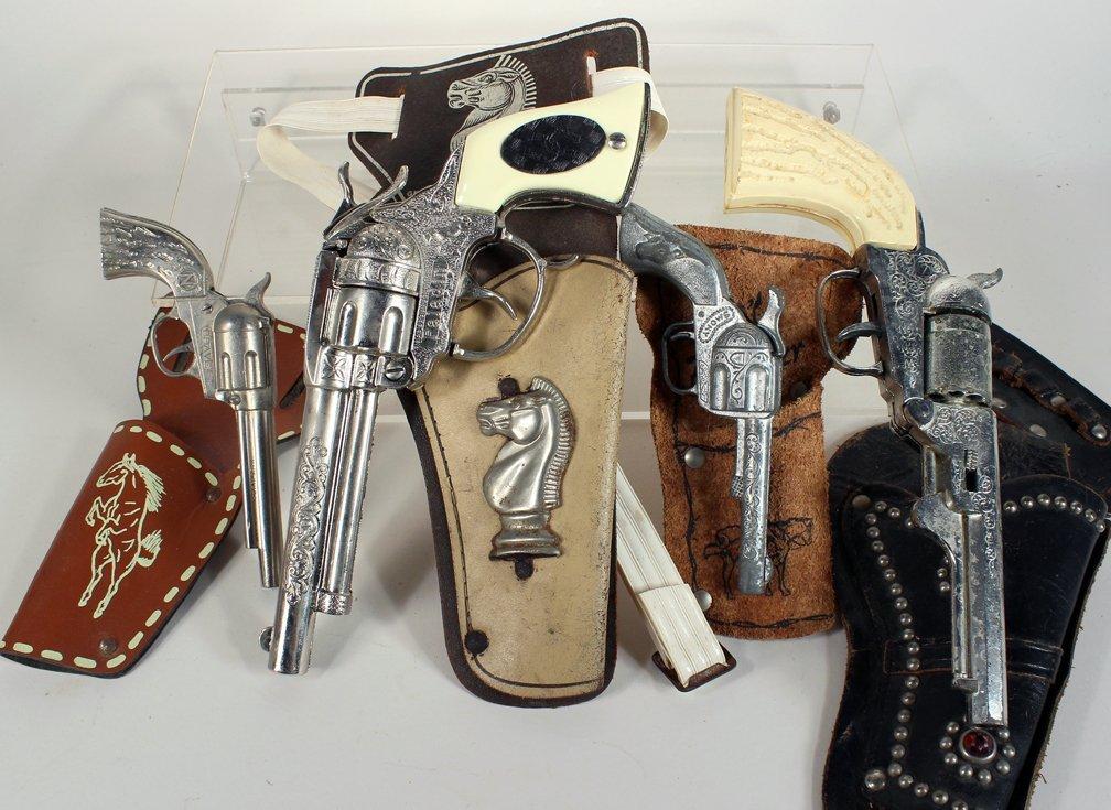 Four Holstered Cap Guns Paladin and Nichols - 3