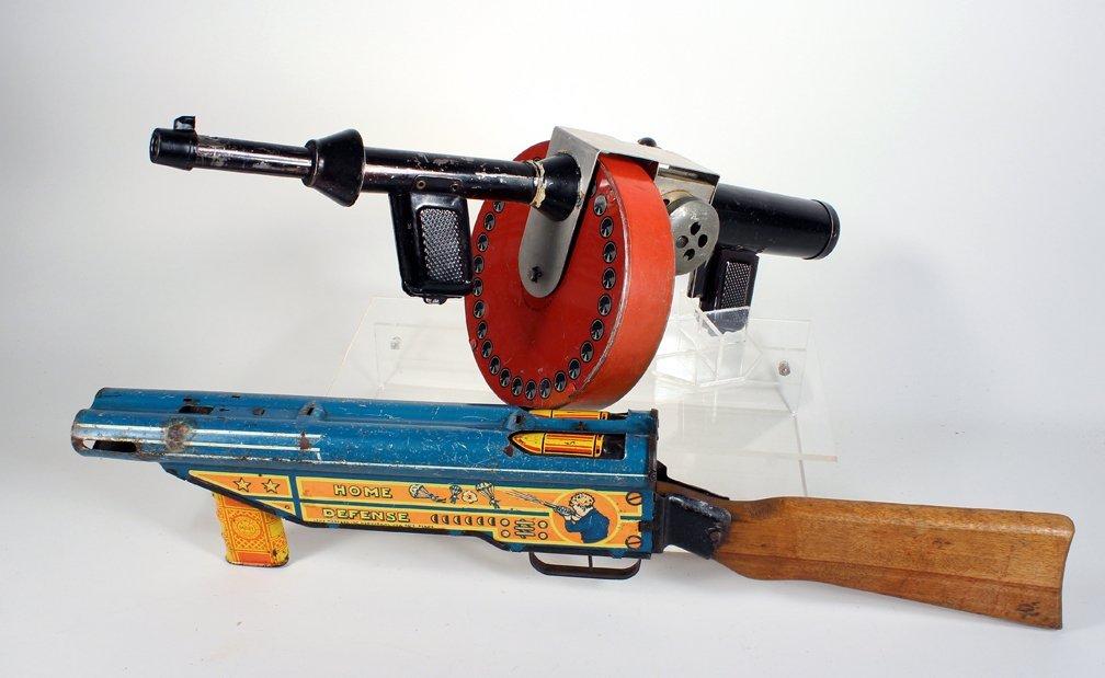 Marx Home Defense and G-Man Tommy Gun