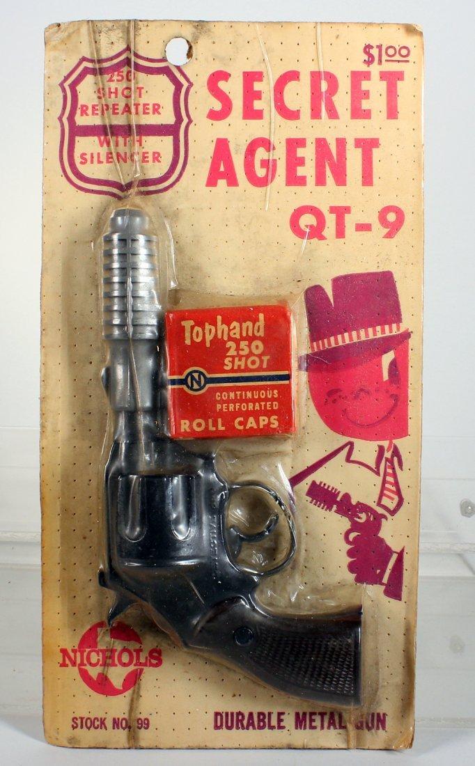 Nichols Secret Agent QT-9 Cap Gun Mint on Card - 2