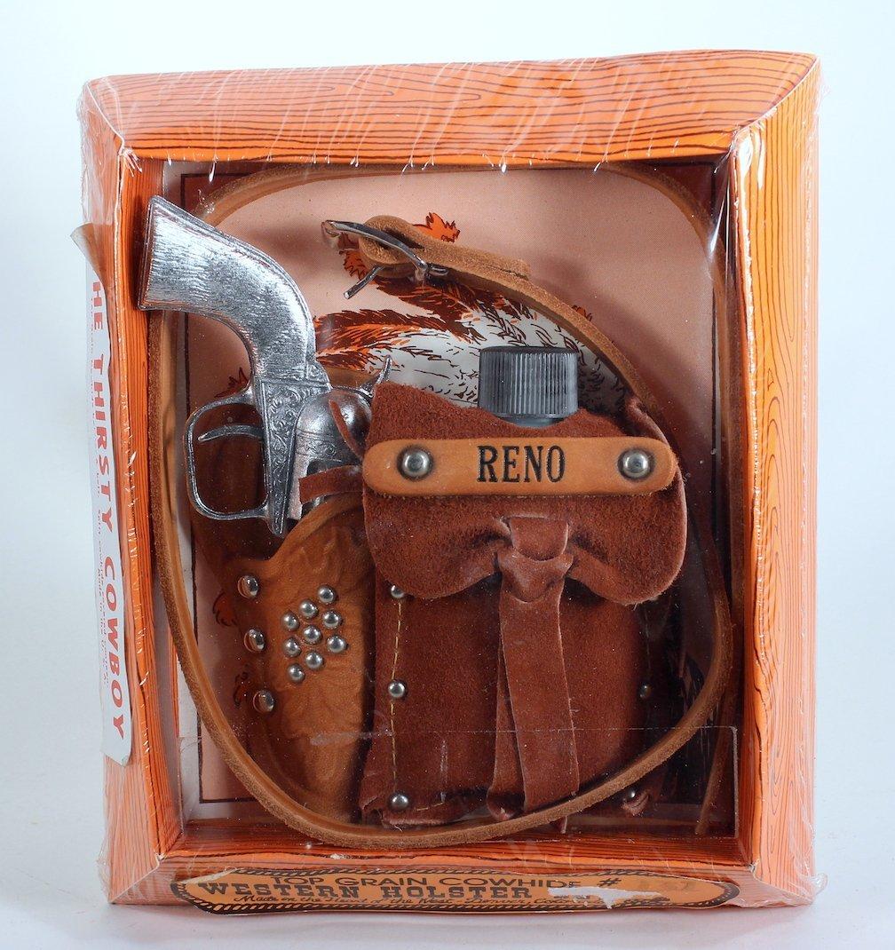 Thirsty Cowboy Reno Cap Gun, Flask, Holster Mint