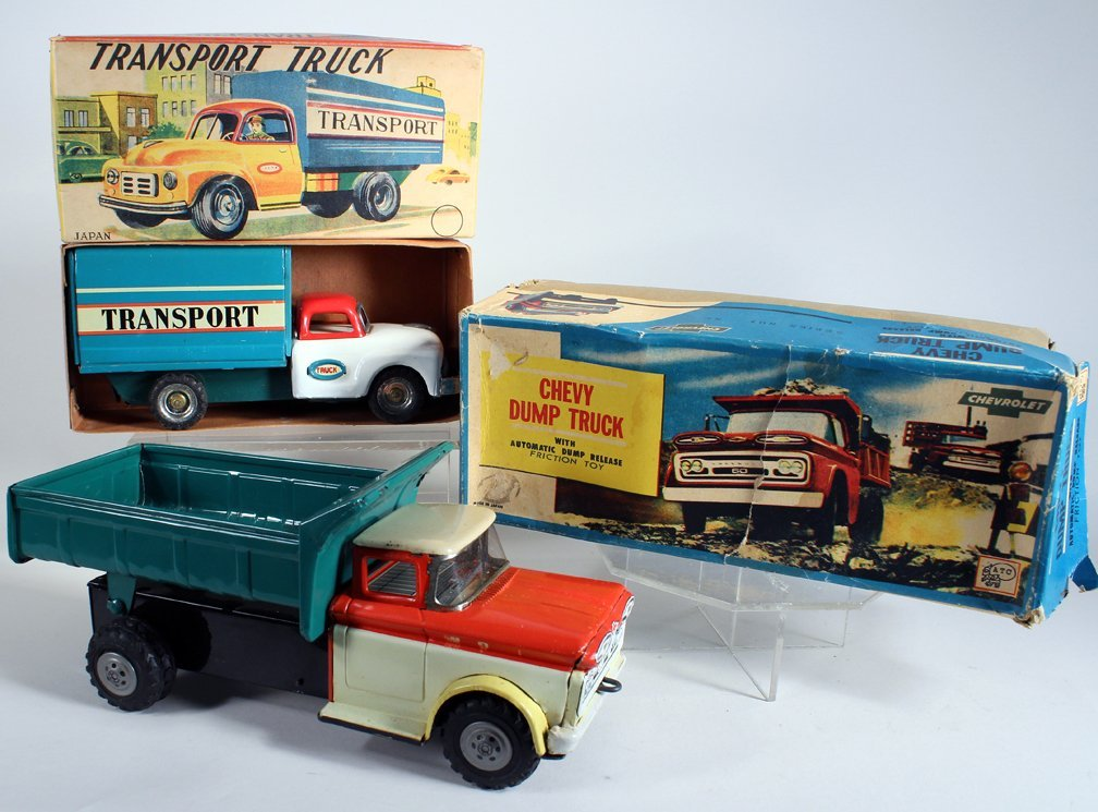 Japan Boxed Chevy Dump Truck & Boxed Transport Truck - 2