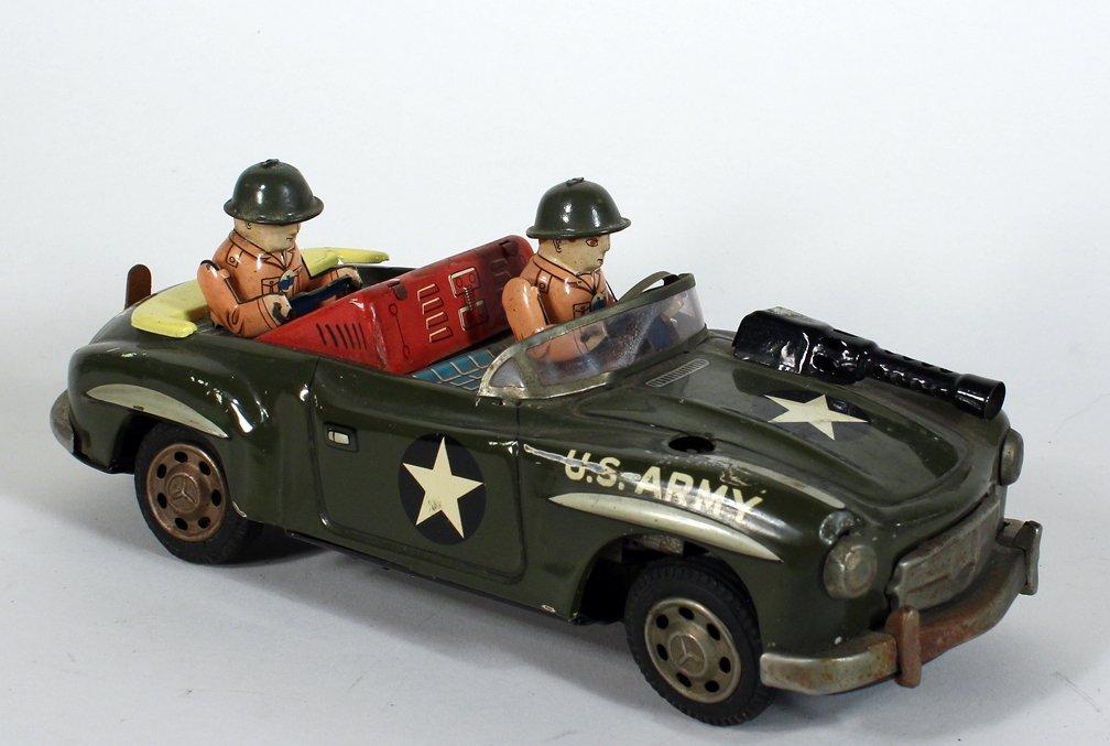 Japan Tin US Army Jeep Radar Car