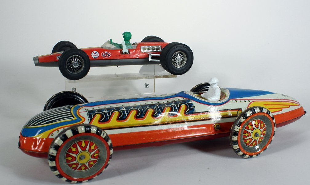 Large Marx Indy Racer and Japan Tin Race Car