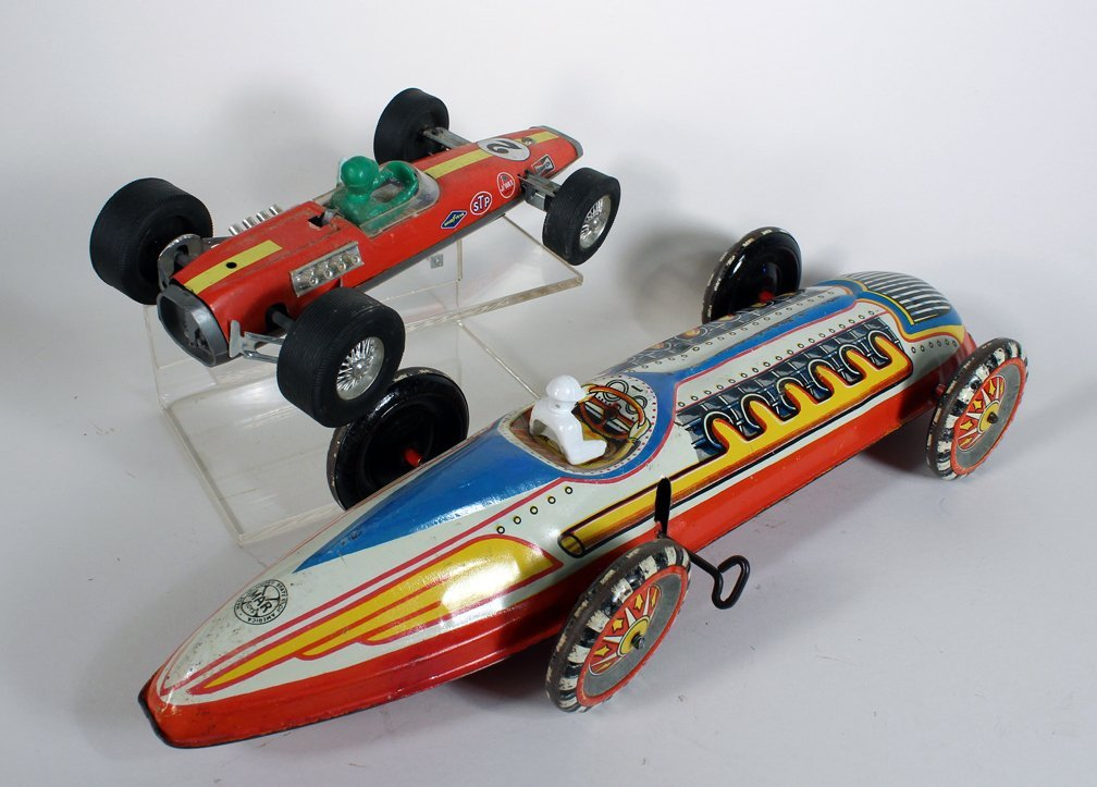 Large Marx Indy Racer and Japan Tin Race Car - 2