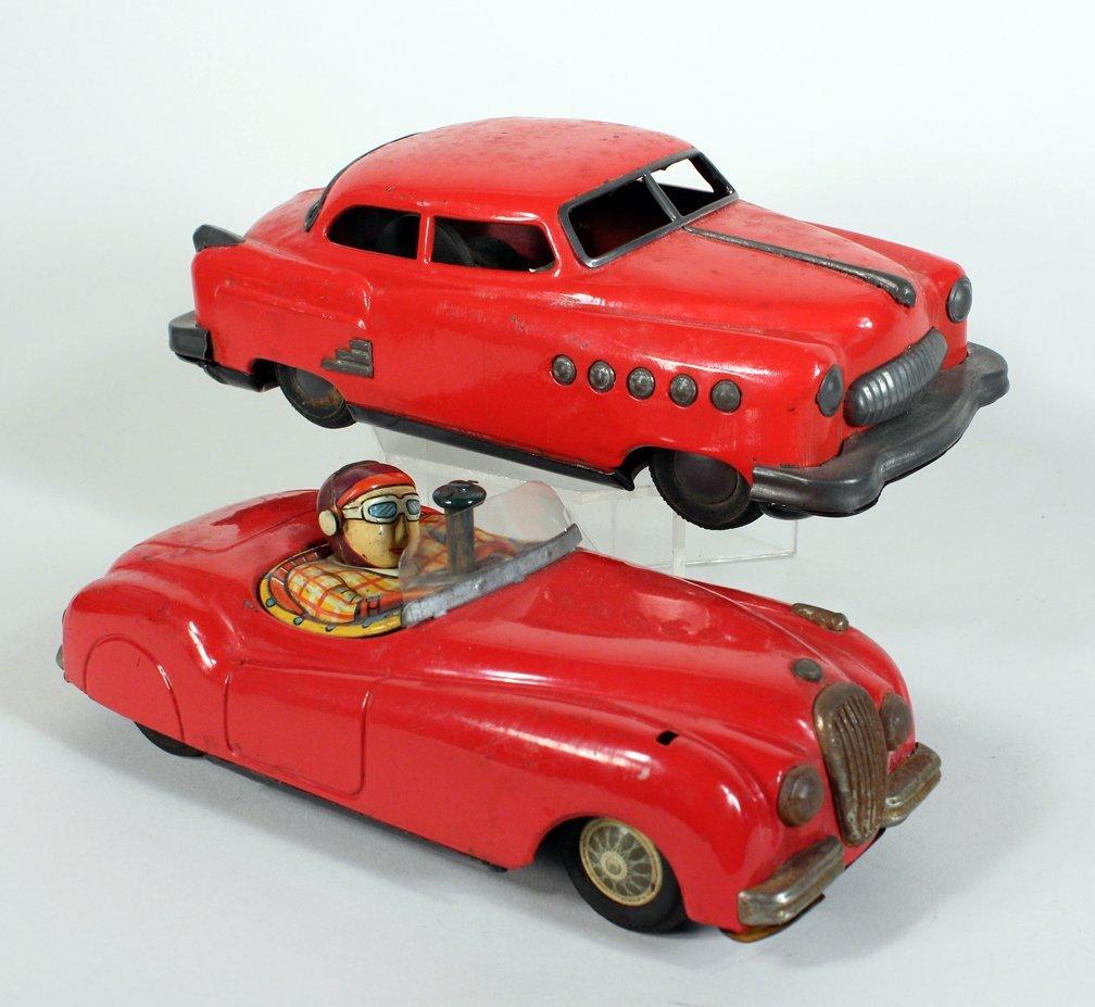 Japan Tin Buick and Jaguar with Driver