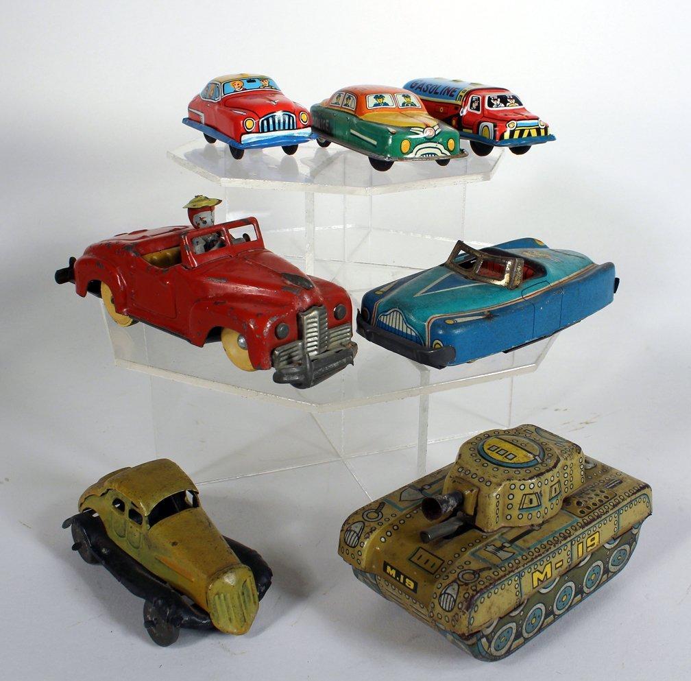 7 Japan Tin Cars & Tank - 2