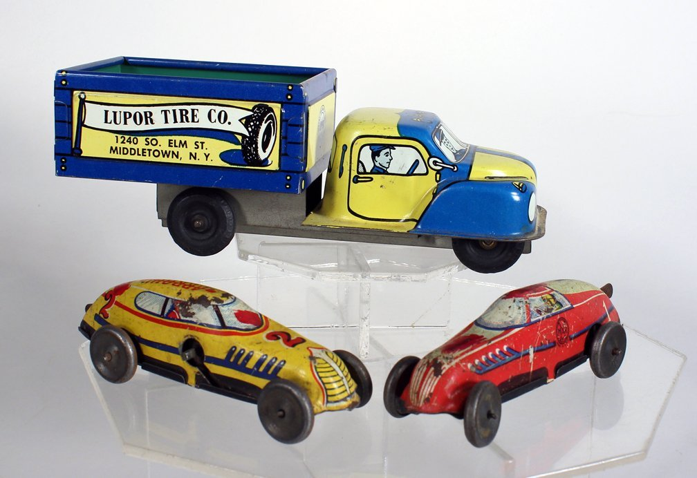 Lupor Advertising Tin Truck, & Marx Race Cars