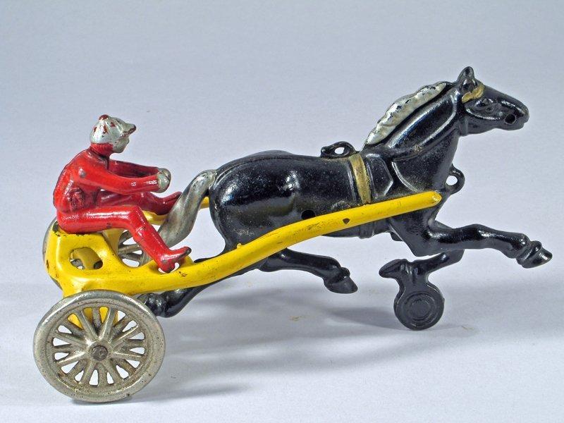 Kenton Horse Drawn Cast Iron Sulky Racer - 2