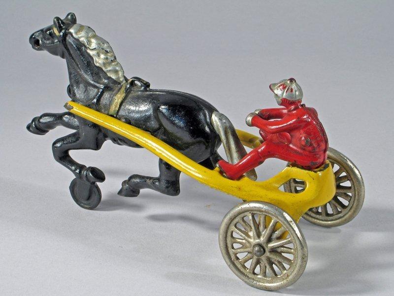 Kenton Horse Drawn Cast Iron Sulky Racer - 3