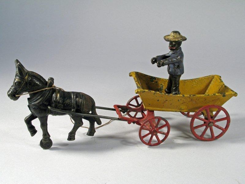 Cast Iron Donkey Cart