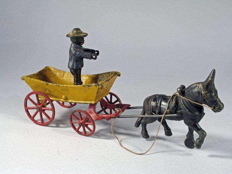 Cast Iron Donkey Cart - 2