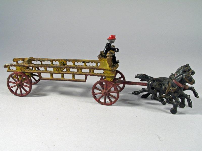 Wilkins Cast Iron Horse Drawn Ladder Wagon - 2