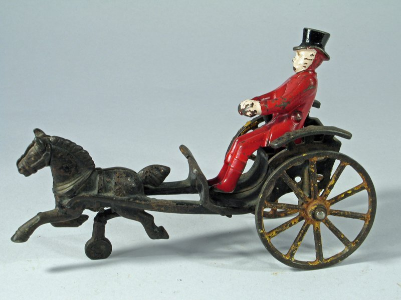 Wilkins Cast Iron Cart With Driver