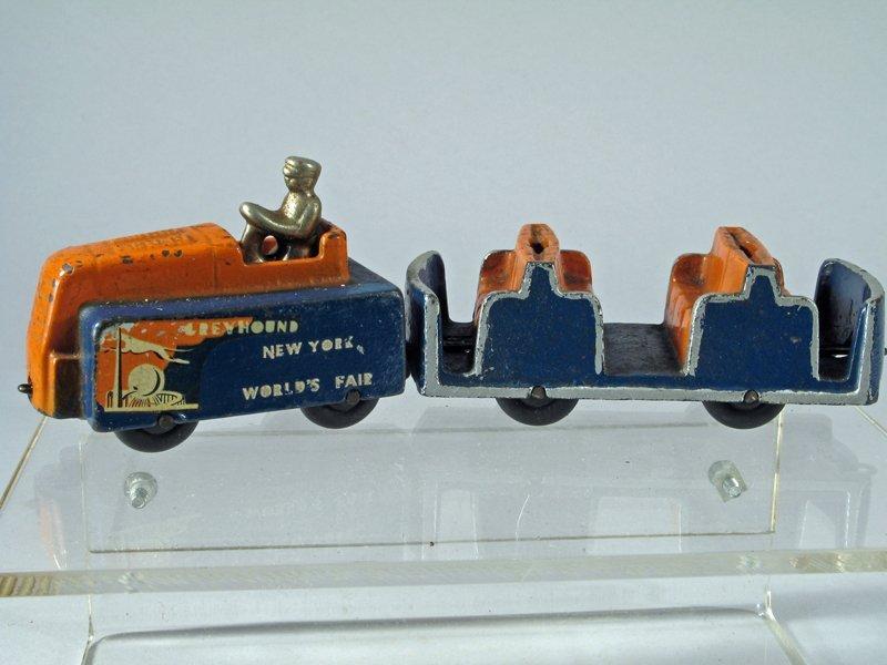 Arcade Cast Iron Greyhound NY World's Fair Transporter