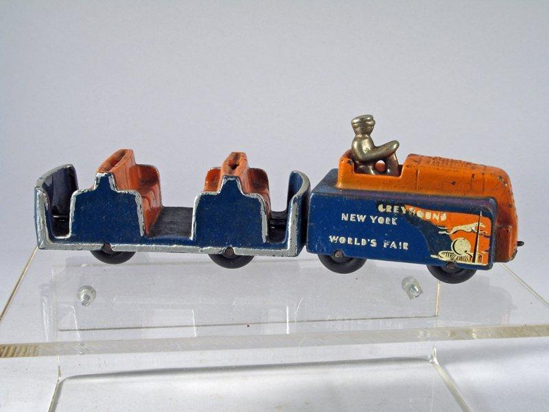 Arcade Cast Iron Greyhound NY World's Fair Transporter - 2