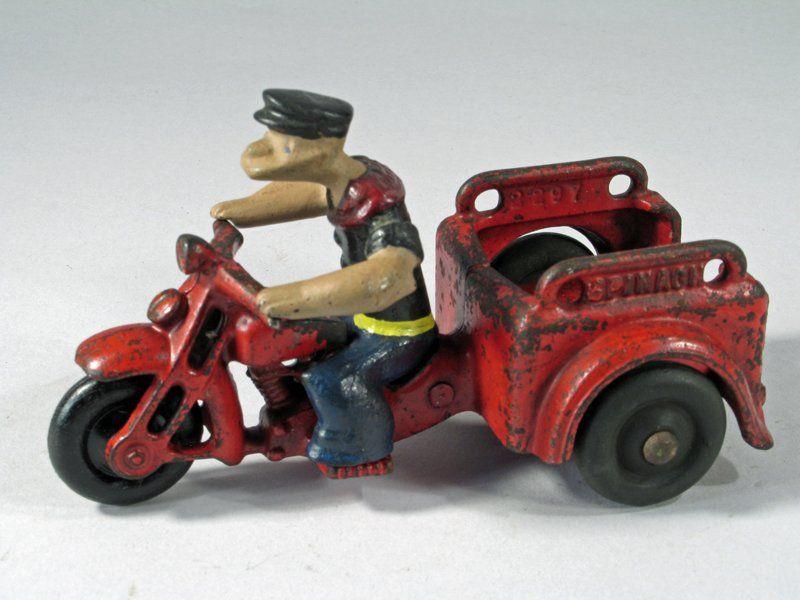 Hubley Popeye Motorcycle Trike