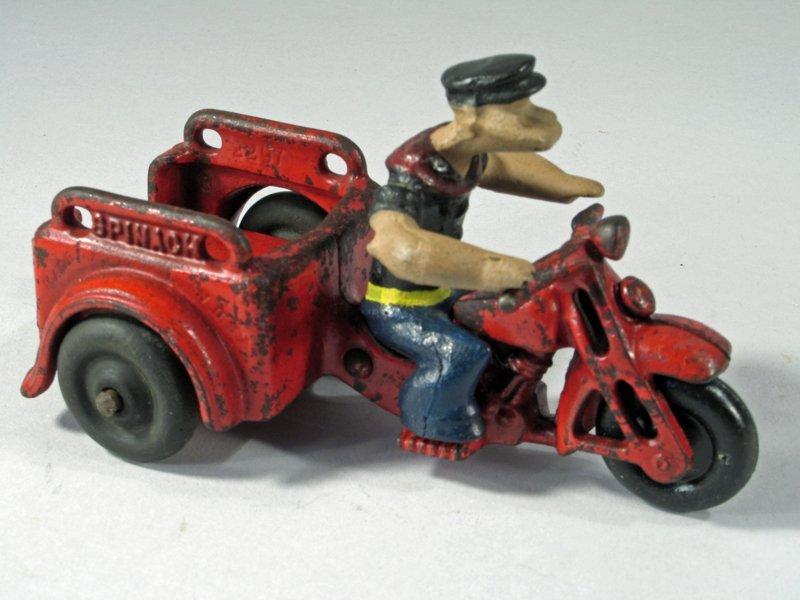 Hubley Popeye Motorcycle Trike - 2