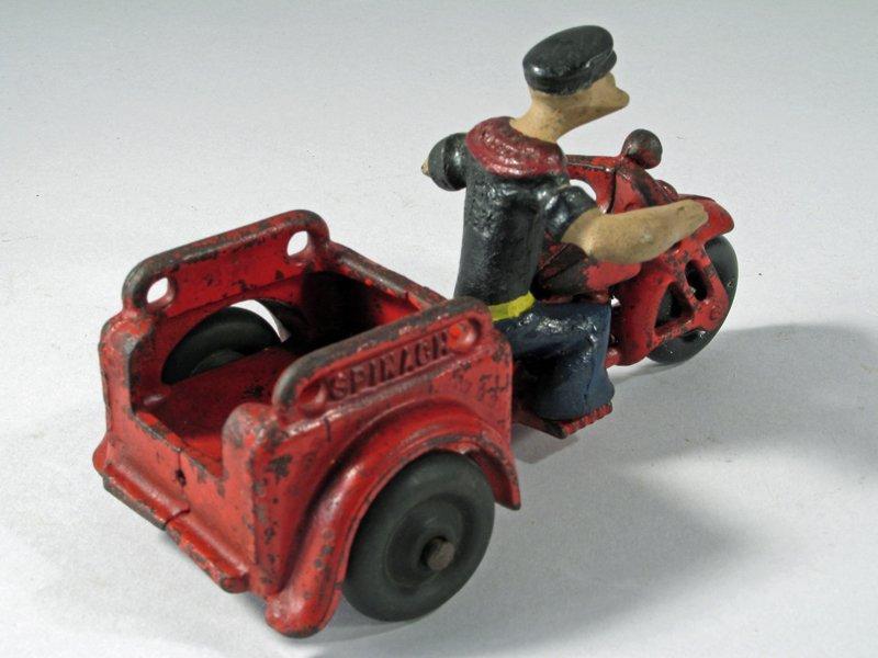 Hubley Popeye Motorcycle Trike - 3