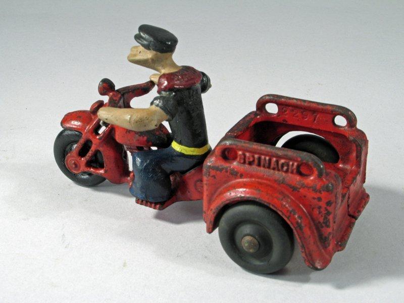 Hubley Popeye Motorcycle Trike - 4