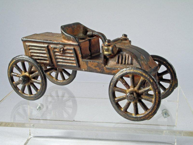 AC Williams Cast Iron Race Car, Early - 3