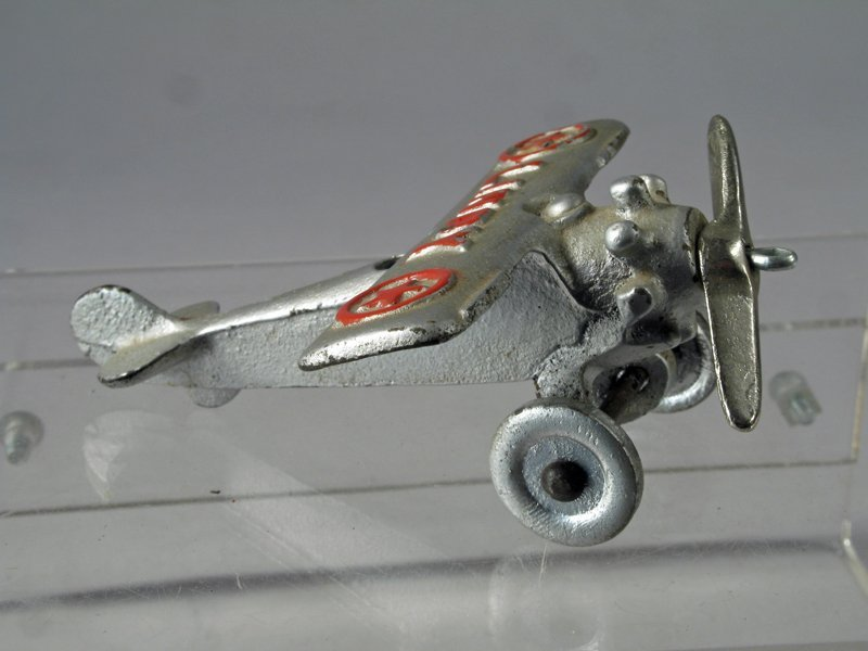 Hubley Lindy Cast Iron Airplane - 3