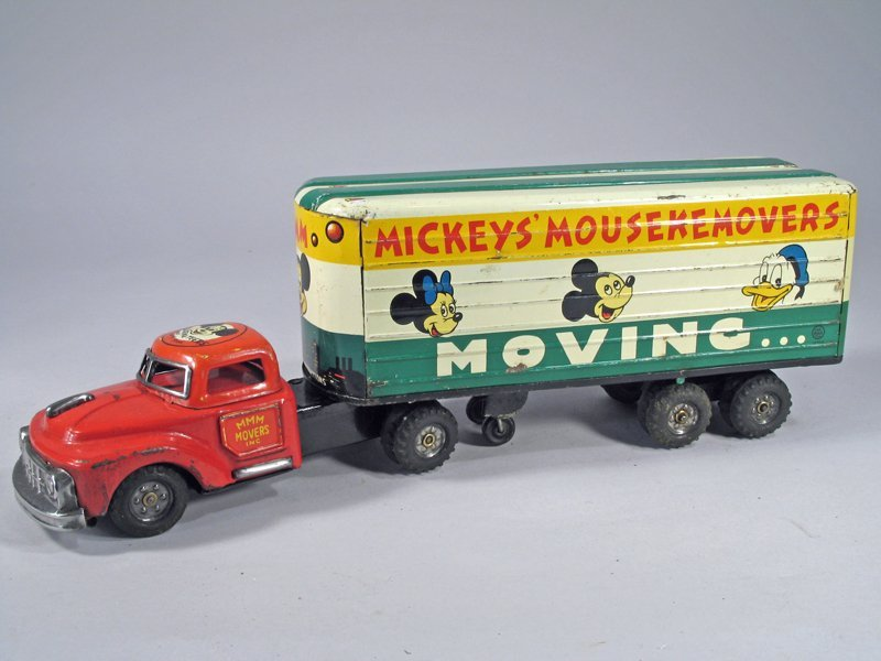 Mickey Mouse Movers Truck Tin Litho