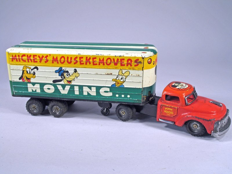 Mickey Mouse Movers Truck Tin Litho - 2