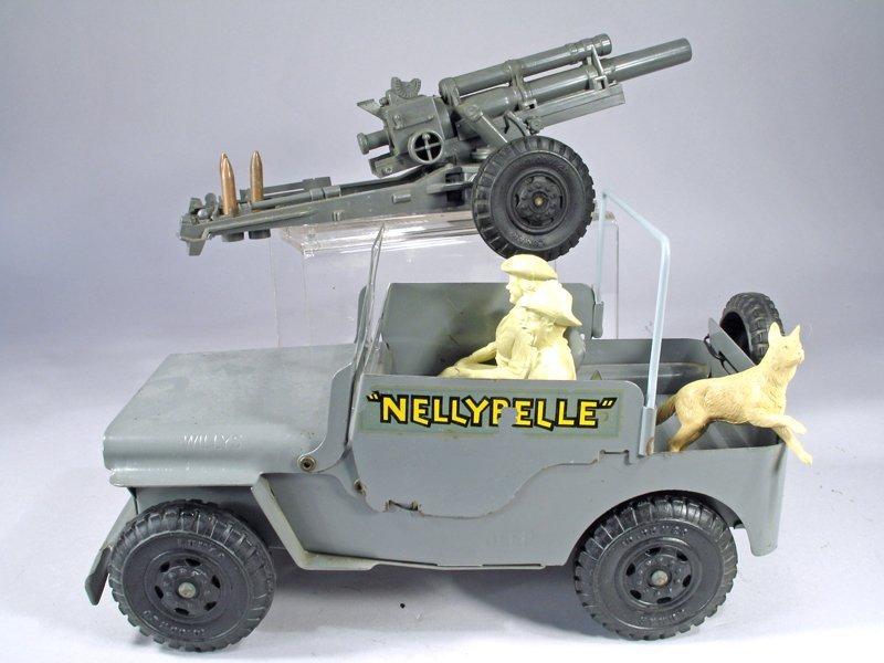 Marx Nellie Belle Jeep Pressed Steel