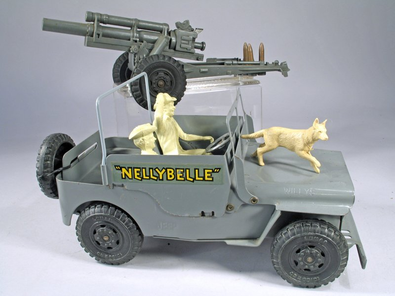 Marx Nellie Belle Jeep Pressed Steel - 2