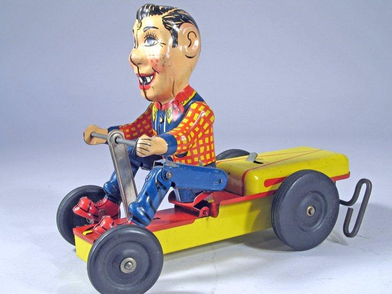 Nylint Howdy Doody Push Cart Wind Up Rare
