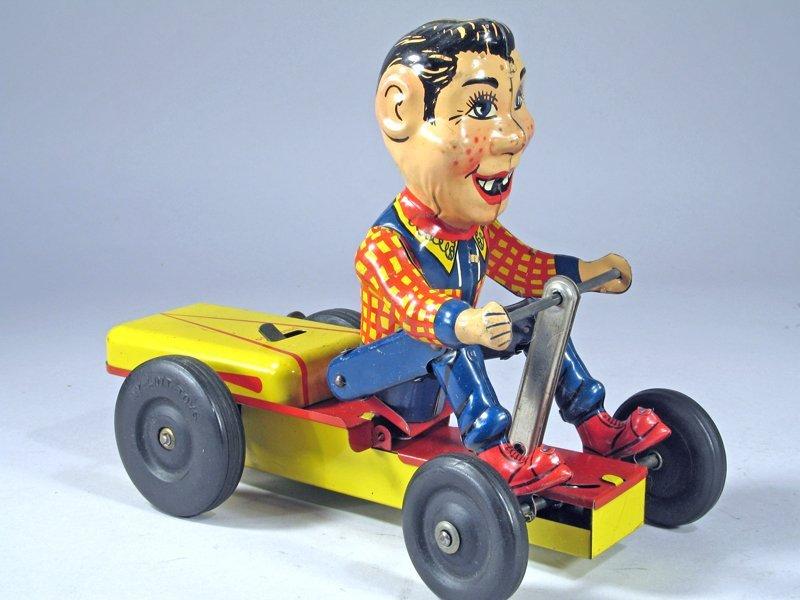 Nylint Howdy Doody Push Cart Wind Up Rare - 2