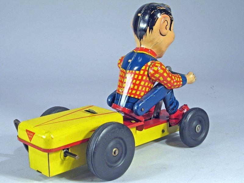 Nylint Howdy Doody Push Cart Wind Up Rare - 3